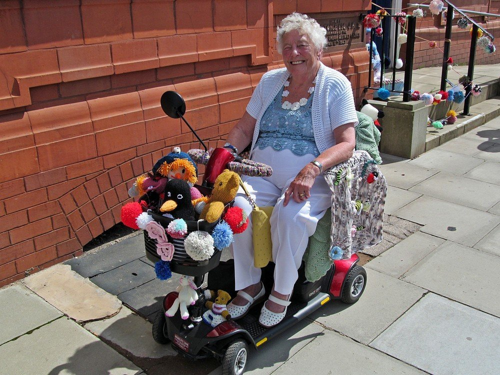 Westhoughton Yarn Bombing Festival 4th / 5th July 2015 - Getting about in a colourful way