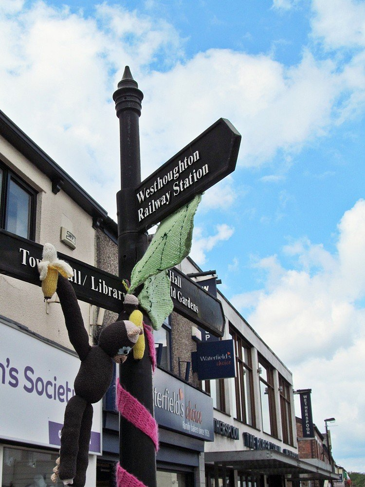 Westhoughton Yarn Bombing Festival 4th / 5th July 2015 - give me a sign