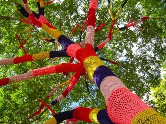 Westhoughton Big Fun Day1st June 2014 - colourful tree (internet)