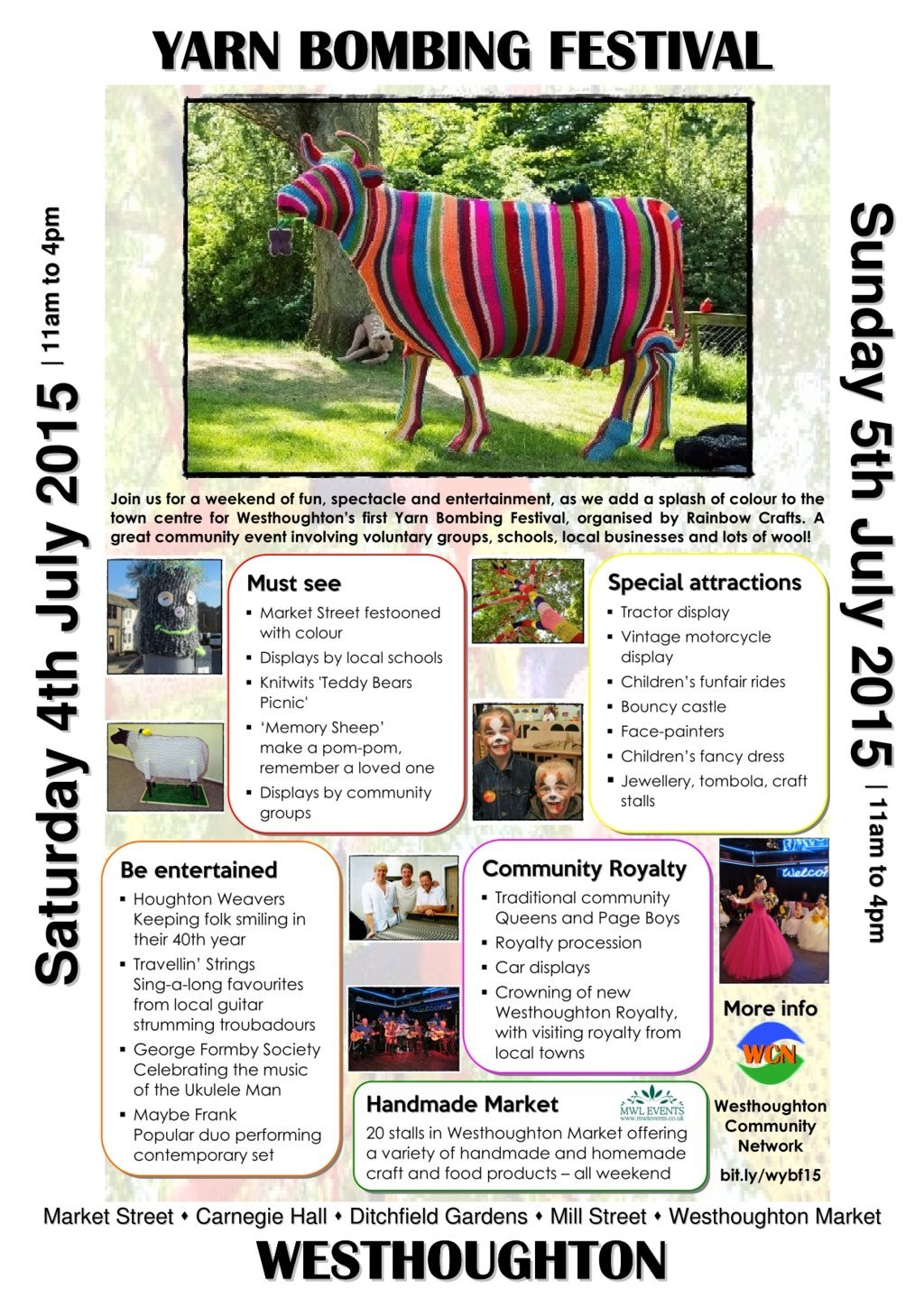 Westhoughton Yarn Bombing Festival 2015 - 4th/5th July