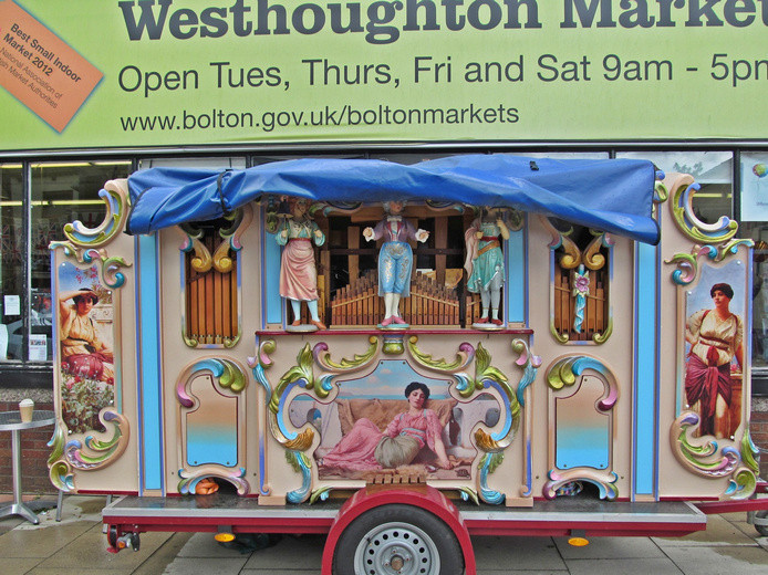 Westhoughton Yarn Bombing Festival 2nd / 3rd July 2016 - Wurlitzer at Westhoughton Market