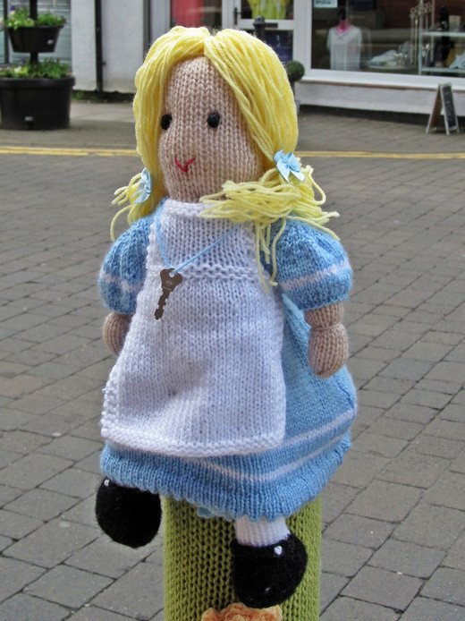 Westhoughton Yarn Bombing Festival 2nd / 3rd July 2016 - Alice in Wonderland theme this year