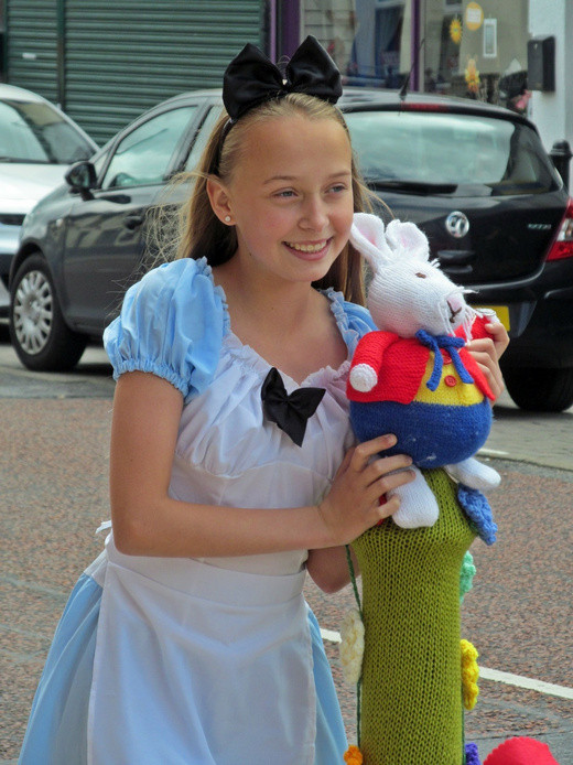 Westhoughton Yarn Bombing Festival 2nd / 3rd July 2016 - our very own Alice in Wonderland