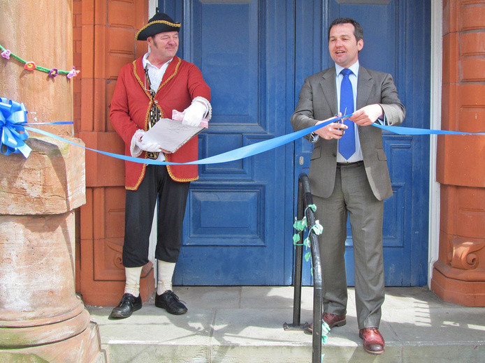 Westhoughton Yarn Bombing Festival 2nd / 3rd July 2016 - local MP Chris Green officially opens Westhoughton Yarn Bombing Festival 2016