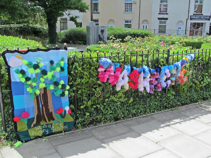 Westhoughton Yarn Bombing Festival 2nd / 3rd July 2016 - Washacre Primary School Yarn Bombing display