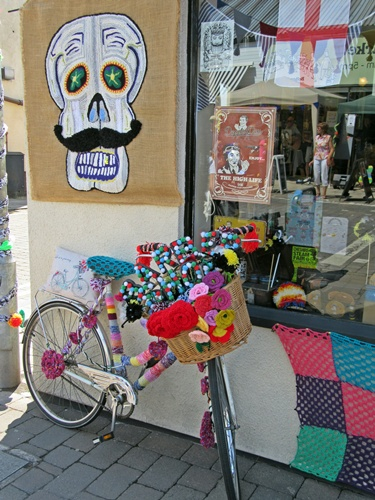 Westhoughton Yarn Bombing Festival 14th / 15th July 2018 - Barbers' Shop