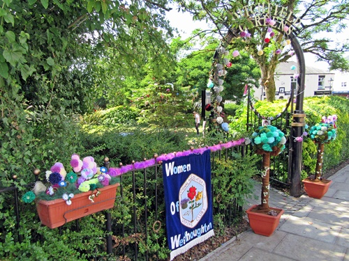 Westhoughton Yarn Bombing Festival 14th / 15th July 2018 - Ditchfield Gardens entrance - WOW!