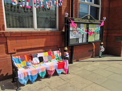 Westhoughton Yarn Bombing Festival 14th / 15th July 2018 - Town Hall (Senior Solutions)