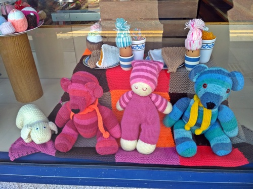 Westhoughton Yarn Bombing Festival 14th / 15th July 2018 - Cake Shop display